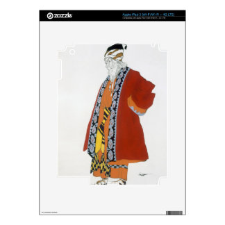Costume design for an old man in a red coat (colou iPad 3 skin