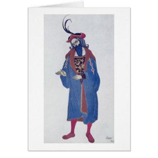 Costume design for Blue-Beard, from Sleeping Beaut Card