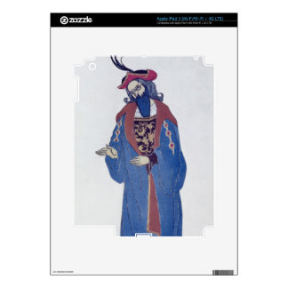 Costume design for Blue-Beard, from Sleeping Beaut Decals For iPad 3