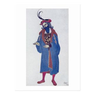 Costume design for Blue-Beard, from Sleeping Beaut Postcard