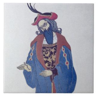 Costume design for Blue-Beard, from Sleeping Beaut Tile