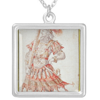 Costume design for Carousel, c.1662 Silver Plated Necklace