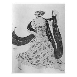 Costume design for 'Cleopatra', 1910 Postcard