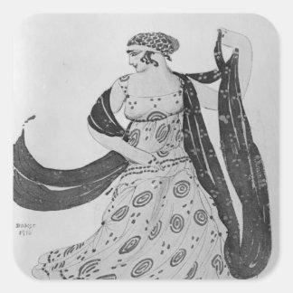 Costume design for 'Cleopatra', 1910 Square Sticker