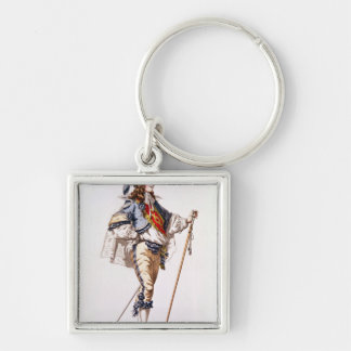 Costume design for 'Don Juan' by Moliere Silver-Colored Square Keychain