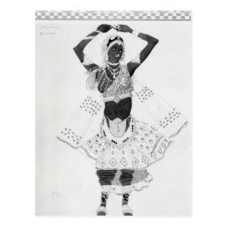 Costume design for 'Le Dieu Bleu', 1912 Postcard