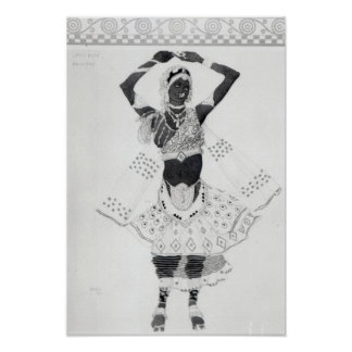 Costume design for 'Le Dieu Bleu', 1912 Poster