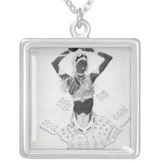 Costume design for 'Le Dieu Bleu', 1912 Silver Plated Necklace