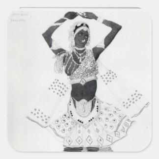 Costume design for 'Le Dieu Bleu', 1912 Square Sticker
