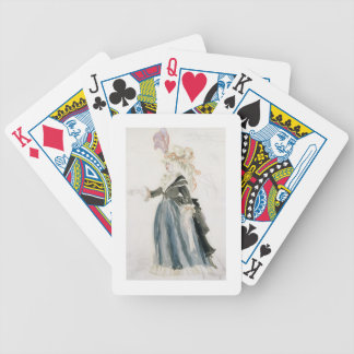 Costume design for 'Misa Sert' as 'Une Dame de la Bicycle Playing Cards