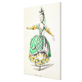 Costume design for Phrygienne, in Dardanus, a libr Stretched Canvas Print