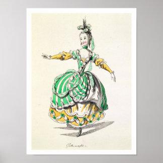 Costume design for Phrygienne, in Dardanus, a libr Poster