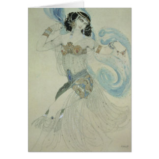 Costume design for Salome Greeting Card