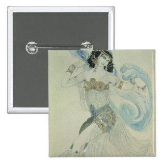 Costume design for Salome Pinback Button