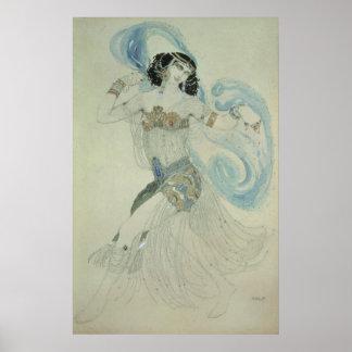 Costume design for Salome Poster