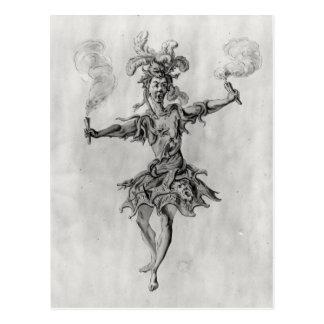 Costume design for the ballet 'Medusa' Postcard