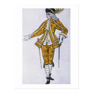 Costume design for the Fairy Canary's Pageboy, fro Postcard