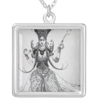 Costume design for 'The Firebird', 1910 Silver Plated Necklace