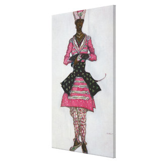 Costume design for The Indian Bridegroom, from Sle Canvas Print