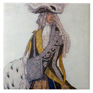 Costume design for The King, in the Garden, from S Ceramic Tile