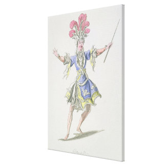 Costume design for the Magician, in Dardanus, a li Canvas Print