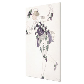 Costume design for the Pageboy of the Fairy Lilac, Canvas Print