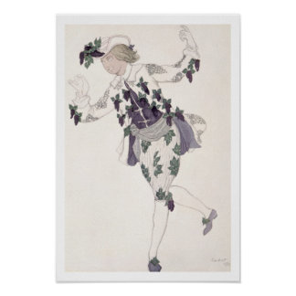Costume design for the Pageboy of the Fairy Lilac, Poster