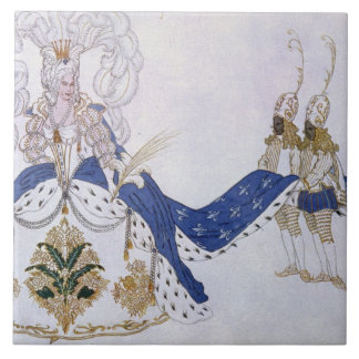 Costume design for The Queen and Her Pages, from S Ceramic Tile