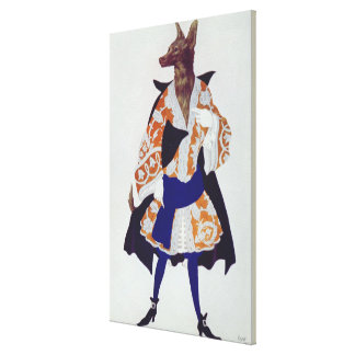 Costume design for The Wolf, from  Sleeping Beauty Gallery Wrap Canvas