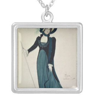 Costume design for Tosca Silver Plated Necklace