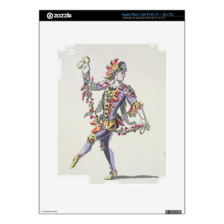 Costume design for Triton, in a 17th century balle iPad 3 Decals