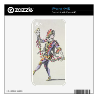 Costume design for Triton, in a 17th century balle Skin For The iPhone 4S