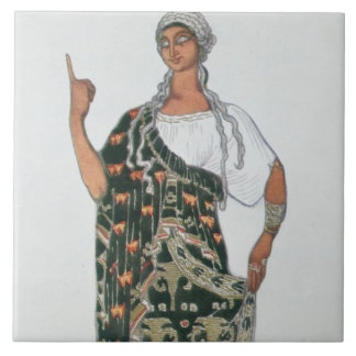 Costume design from Phedre, 1917 (colour litho) Ceramic Tile