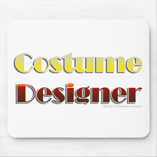 Costume Designer (Text Only) Mouse Pad