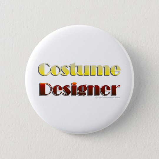 Costume Designer (Text Only) Pinback Button