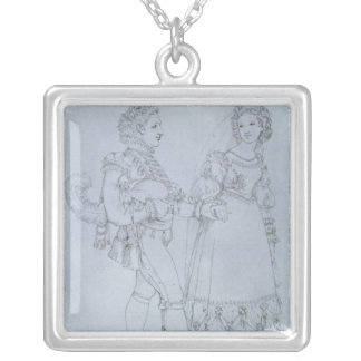 Costume designs Figaro and Susanna from opera Silver Plated Necklace