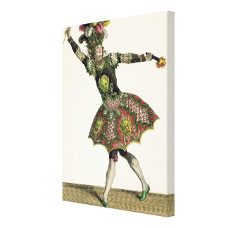 Costume for a demon in 'Armide', 'Psyche' and seve Stretched Canvas Prints