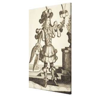 Costume for a Feather Dealer, pub. by Gerard Valck Canvas Print