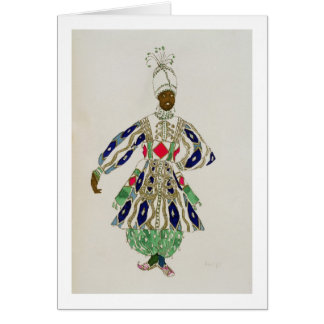 Costume for a 'negro', from Aladdin, 1916 (colour Greeting Card