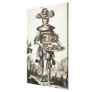 Costume for a Pastry Cook, pub. by Gerard Valck (1 Canvas Print