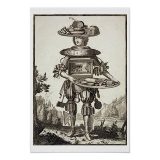 Costume for a Pastry Cook, pub. by Gerard Valck (1 Poster