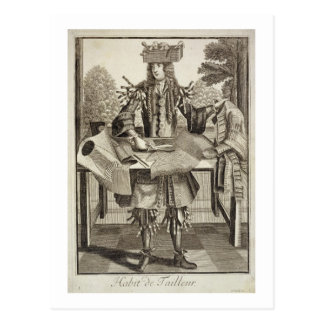 Costume for a Tailor, pub. by Gerard Valck (1651/2 Postcard