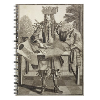 Costume for a Tailor, pub. by Gerard Valck (1651/2 Spiral Notebooks