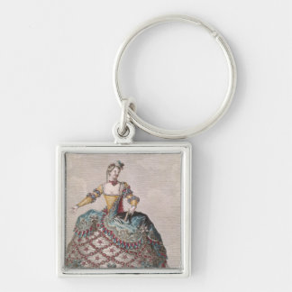 Costume for an Indian woman Keychain