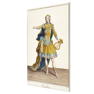 Costume for Apollo in the opera 'Phaethon', engrav Stretched Canvas Prints