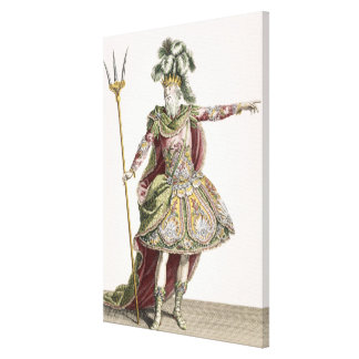 Costume for Neptune in several operas engraved by Stretched Canvas Prints