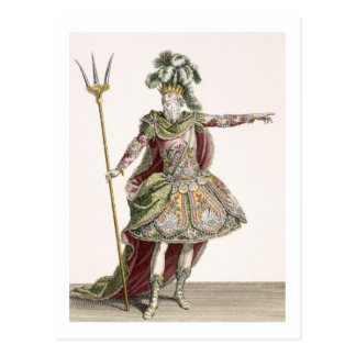 Costume for Neptune in several operas, engraved by Postcard
