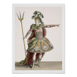 Costume for Neptune in several operas engraved by Print