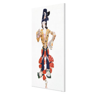 Costume for Nijinsky  in the ballet Canvas Print