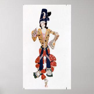 Costume for Nijinsky  in the ballet Poster